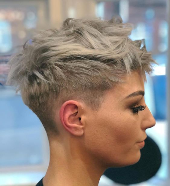 Pixie Cut Shaved Sides