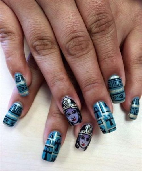 matte coffin nail designs
