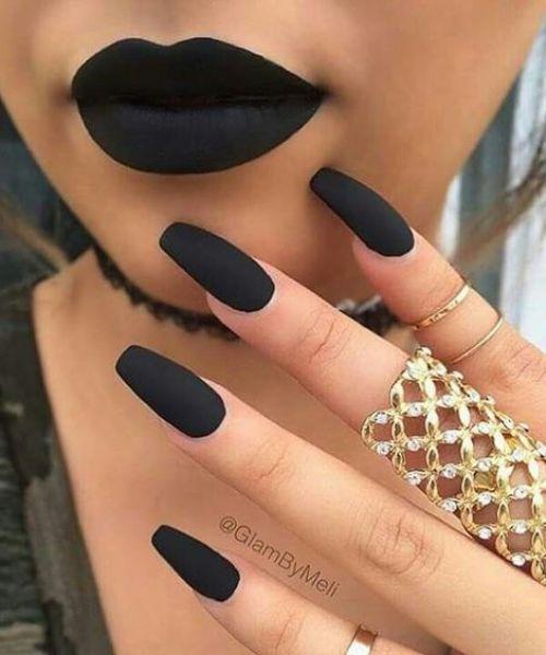 coffin tip nail designs