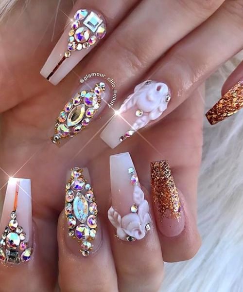 summer coffin nail designs