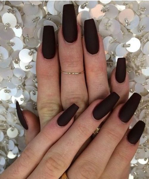 coffin style nail designs