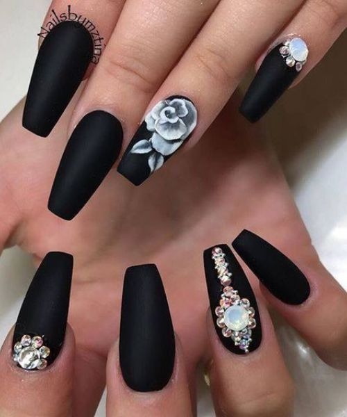 coffin gel nail designs