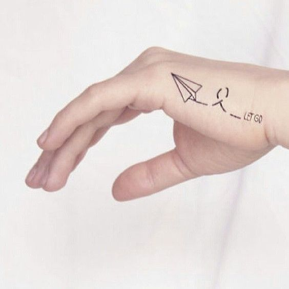Small Paper Plane Tattoo Ideas