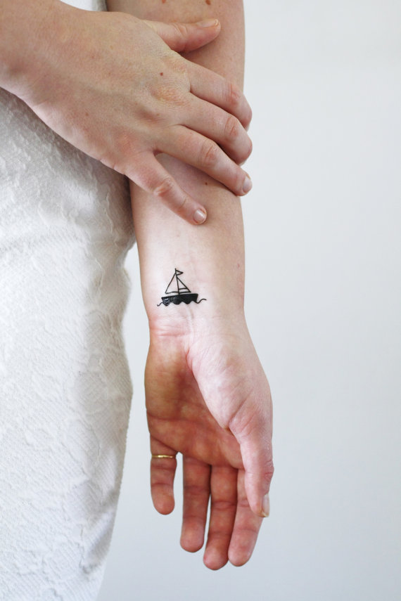 Small Sailboat Tattoo Ideas