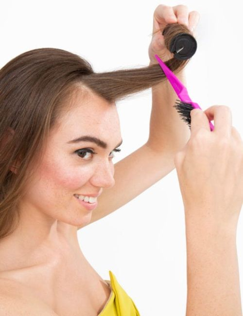 how to use hot rollers on medium length hair