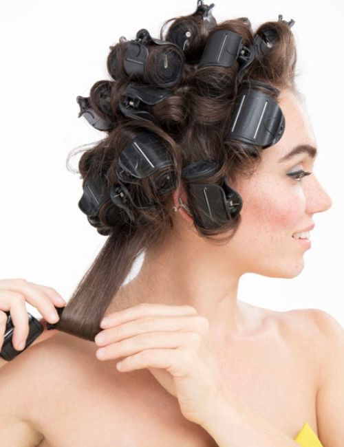 how to use hot rollers on long hair